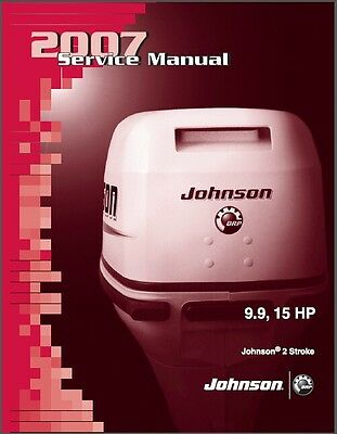 Johnson 9.9 - 15 HP 2-Stroke Outboard Motor Service Repair Manual CD