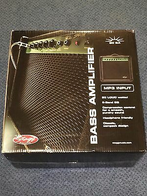 New boxed Stagg 20 BA Bass Guitar Amplifier with MP3 input - 3 band EQ