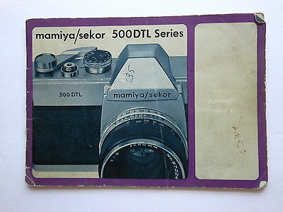 Vintage mamiya/sekor 500DTL Series Camera Owners Operational manual, GC