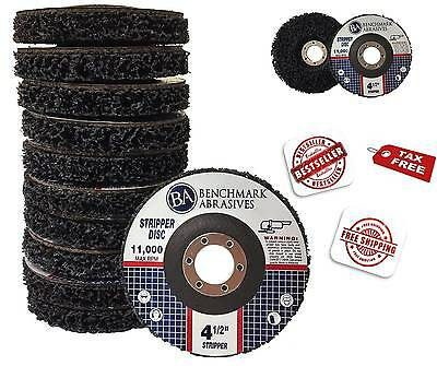 "10 Pack -4 1/2"" x 7/8"" Benchmark Abrasives - Paint & Rust Stripping Cup Wheel"