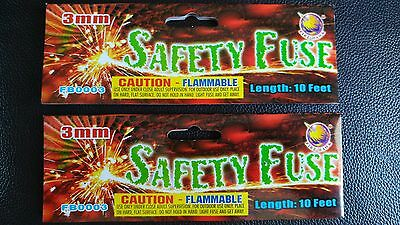 (2) Fire Hawk Safety Cannon Fuse Labels Free Shipping