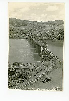 Brazil Railroad Bridge RPPC Marcelino Romas—Rio Uruguay TRAIN Antique Photo~1920
