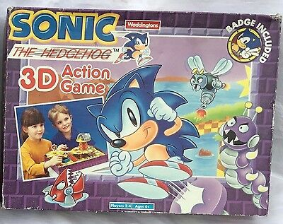 SEGA Sonic The Hedgehog 3D Action Game Waddingtons 1994
