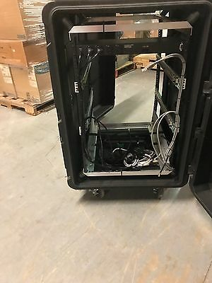 42x36x26 Wheeled Tray Base Equipment Transit Case with 19 inch equipment rack