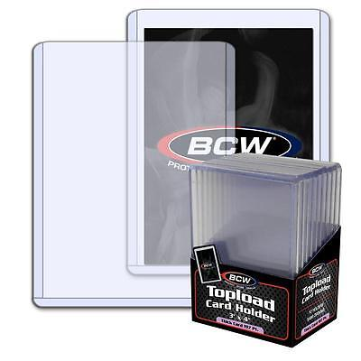 1 Pack of 10 BCW Toploaders 3 x 4 x 5mm 197pt Topload Card Holders