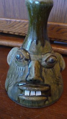 Beautiful Walter Fleming BUGGY FACE Jug, Catawba Valley-Statesville, NC