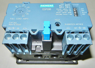 SIEMENS 48ATE3S00  ESP200 Overload Relay 10-40 AMPS Solid State 3UB8123-4EW2