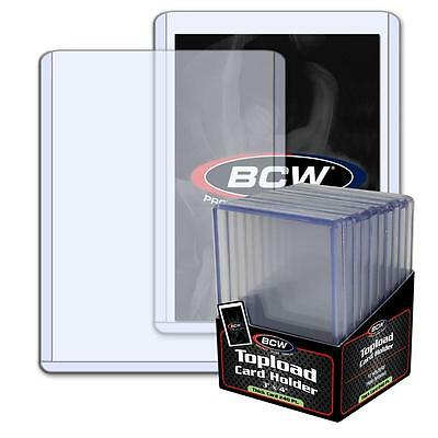 1 Pack of 10 BCW Toploaders 3 x 4 x 7mm 240pt Topload Card Holders