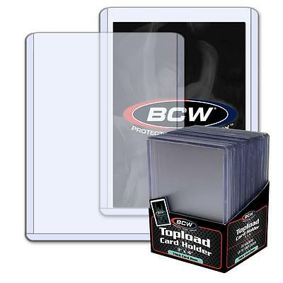 1 Pack of 25 BCW Toploaders 3 x 4 x 2mm 79pt Topload Card Holders