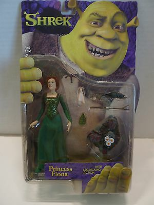 SHREK - 2 different PRINCESS FIONA w leg kicking action figure 2001