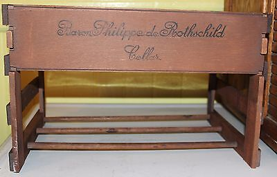 Baron Philippe De Rothschild Cellar Wood Wine Box Rack