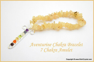 Reiki Energy Charge Aventurine Chips Chakra Bracelet For Positive Energy