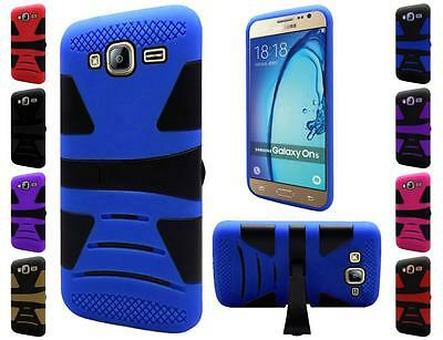 For Samsung Galaxy On5 Tough Dual Layer Armor Hybrid U Stand Cover Case