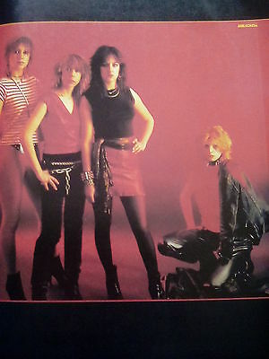 Early Girlschool or Phantom Blue Double Sided Page Picture Music Book 27x19cm