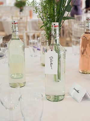 Premium quality 1L glass swing top bottles with stopper wedding party job lot