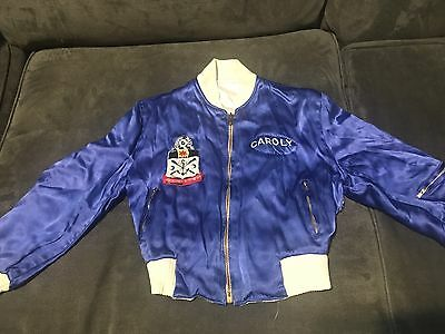 VTG Reversible Kitzingen Germany Military Tour Kids Jacket Blue Satin 1957-1959