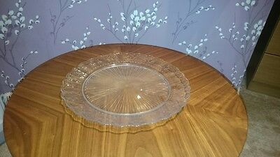 Quality Glass Serving Display Plates Wedding Job lot 25 available