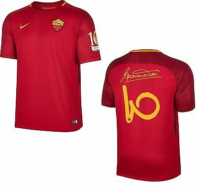AS Roma Maglia Totti 2017-18 Nike Adulto&Bambino AS Roma Totti Home Shirt Jersey