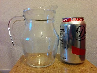 Classic clear glass jug for cream milk juice etc Wedding Job lot (24 available)