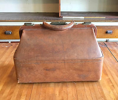 Leather Doctors Bag, Gorgeous Patina, Antique Medical