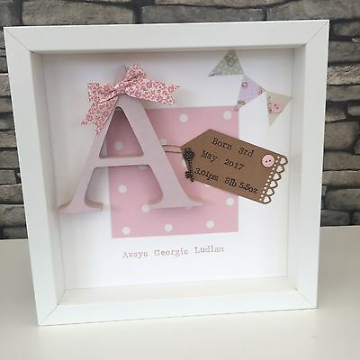 Personalised New Baby, Birth, Christening, Boy & Girl Frames Gift Present