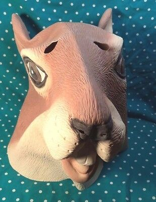 New Squirrel Head Mask Halloween Costume Theater Prop Novelty Latex Rubber Funny
