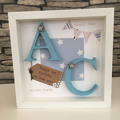 🎀Personalised Twin, Baby, 1st Birthday Frames Gift/Keepsake For Bedroom Nursery