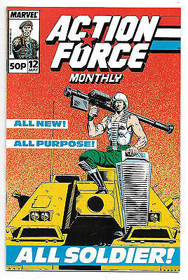 Action Force #12 (Marvel UK 1989 vf+) by Mike Collins/Steve Alan & Kev Hopgood