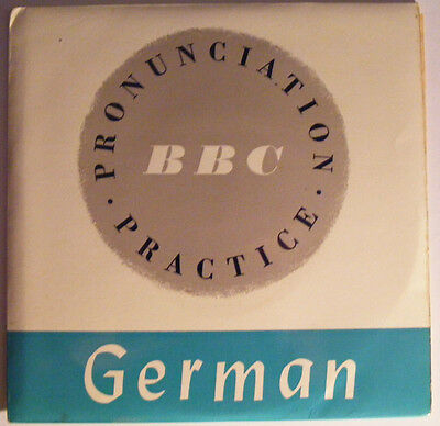 GERMAN PRONUNCIATION PRACTICE  N/M BBC '70s P/S EP With Booklet