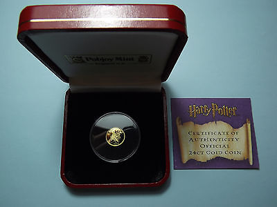 Solid Gold Harry Potter 1/25 Oz Gold Crown - 2007 Isle Of Man / Iom - 24 Carat