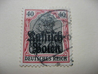 Poland Stamps 1918 General Gouvernement Warschau Sc40