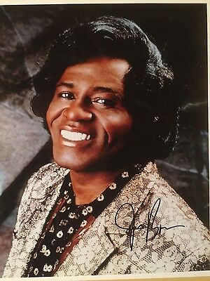 James Brown Autograghed 8x10 Photo with Letter of authenticity