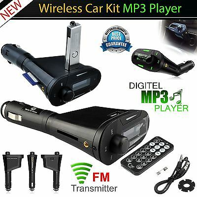 Wireless USB Car Music MP3 Player Modulator FM RadioTransmitter SD Card Slot