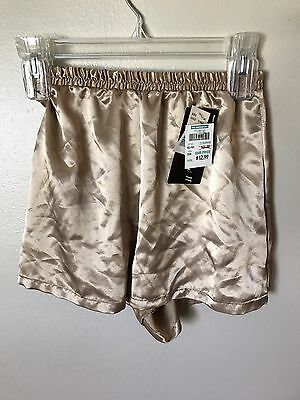 Lucie Ann II Gold Sleep Short Nylon Vintage NWT NOS Small