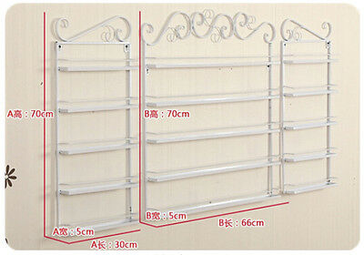 5 Tier Wall Mounted Nail Polish Storage Rack Stand Display Holder White 3 piece