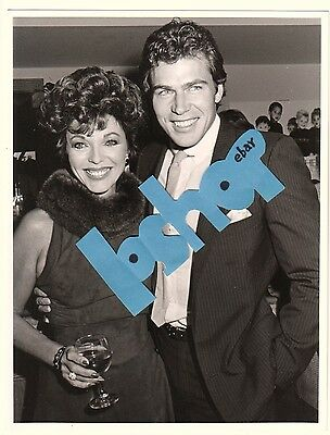 Rare JON ERIK HEXUM candid Vintage Original PHOTO glamour JOAN COLLINS Dynasty