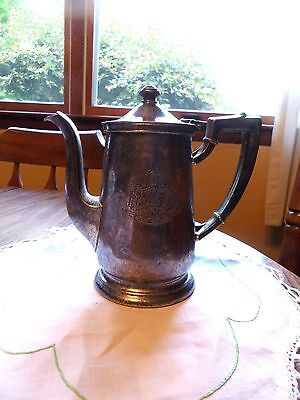 Vintage Beverly Hills Hotel Teapot With Crest International Silver Company Gc