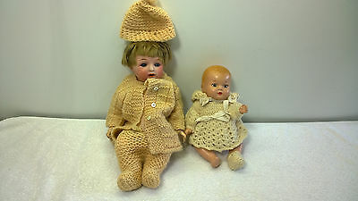 Vintage Composition 1940s Doll & Marked Japanese Bisque 1920s Doll