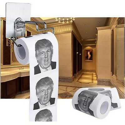 2 ply Donald Trump Funny Toilet Paper Soft Printed Gag  Gift Toilet Tissue RolMH