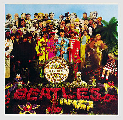The Beatles Poster Flat Sgt. Pepper's Lonely Hearts Club Band 1967 Promo 12x12