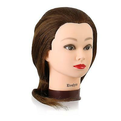 Mannequin Head with 100 Human Hair, 22 Inches Long, Auburn Shade, Hands On...