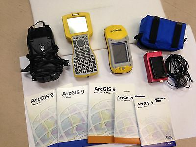 Lot of Trimble Surveying Equip TSC1, GEO XM, Power Supply and Charger, ArcGis 9