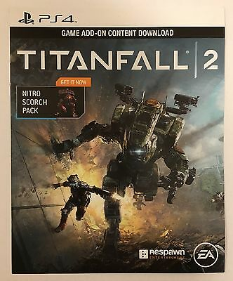 TITANFALL 2 NITRO Scorch Pack Day One DLC Add-On for Playstation 4 PS4