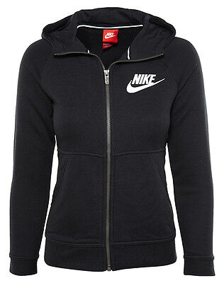 Nike Sportswear Modern Hoodie Black (Little Kid/Big Kid) Girls SZ [806212-010]
