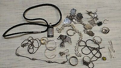 NICE LOT Of Mixed Sterling Silver Jewelry Pieces ~ Vintage & Modern ~ 103 GRAMS
