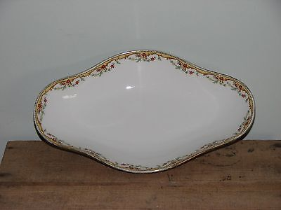 "Antique Vignaud Limoges The Meuse France Small Serving Dish Bowl 9"" x 5 3/8"""