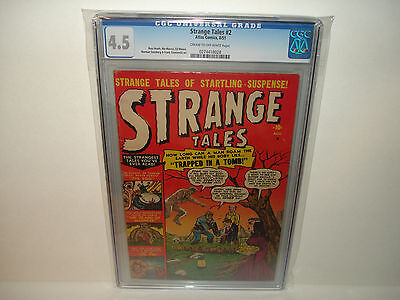 Strange Tales #2 CGC 4.5 Scarce.HTF 1951 Atlas Golden Age Check my other items