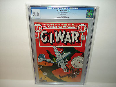 G.I. War Tales #1 (Mar-Apr 1973, DC)  CGC 9.6  White pages Nice Copy !!!