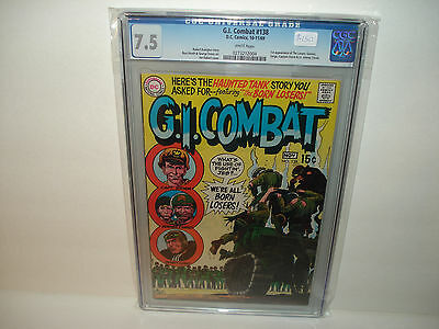 G.I. Combat #138 CGC 7.5 First appearance of the Losers  White Pages  Key book !