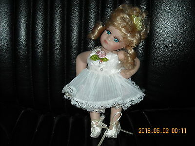 """8 1/2"""" ballerina doll ceramic w velco dress shoes take clothes for your BJD"""